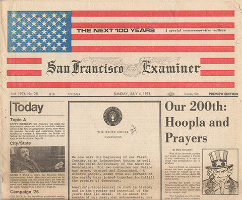 July 4 1976 America USA Bicentennial San Francisco Examiner - Whole paper - TnTCollectibles