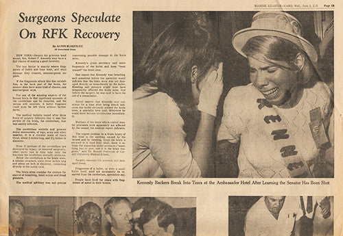 RFK Robert F Kennedy Final Hours Newspaper Collection - June 1, June 4 to June 7 1963 - TnTCollectibles - 3