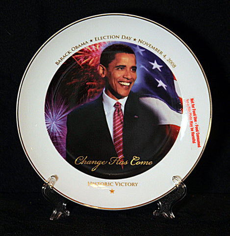 Collectible President Barack Obama 22k Gold Trim Inauguration Collector Plate - TnTCollectibles - 1