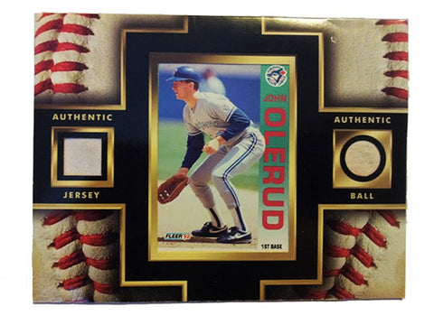 Collectible John Olerud Framed Toronto Blue Jays Card Game Used Jersey and Ball - TnTCollectibles