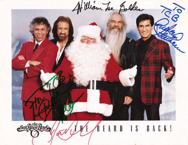 Music Legends Oak Ridge Boys Autograph Signed Photo Inscribed to Elvis' Band TCB - TnTCollectibles