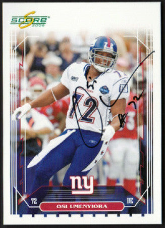 Rare Collectible Super Bowl Champion Osi Umenyiora Autograph Signed Giants Card - TnTCollectibles