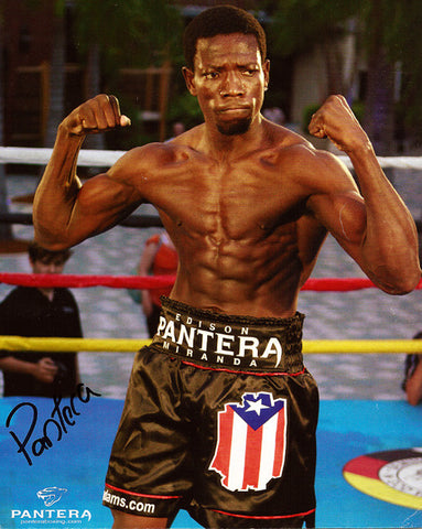 Veteran Boxer Edison 'Pantera' Miranda Autograph Hand Signed Photo - TnTCollectibles