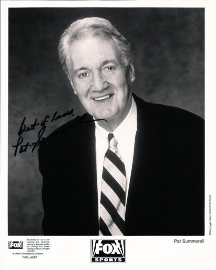 NY Giants Fox Sports Memorabilia Pat Summerall Hand Signed Autographed Photo - TnTCollectibles
