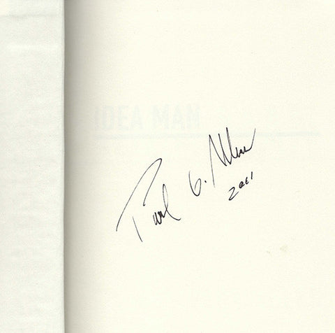Microsoft Co-Founder Paul G Allen Autograph Signed Idea Man Book Seahawks Trailblazers - TnTCollectibles - 1