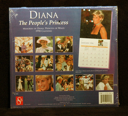 Collectible 1998 Princess Diana The People's Princess Mint Sealed Calendar 12x24 - TnTCollectibles - 2