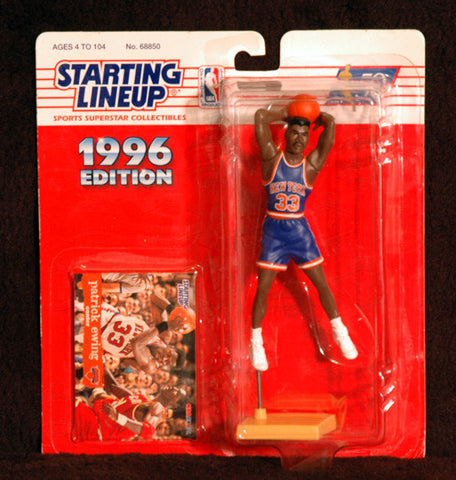 NBA New York Knicks Legend Patrick Ewing 1996 Starting Lineup Figure with Card - TnTCollectibles