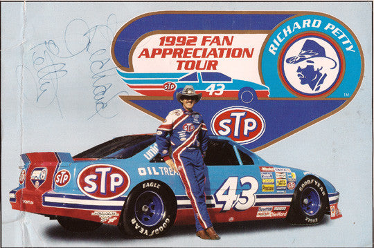 The King - Richard Petty Autographed Hand Signed Tour Promo Print - TnTCollectibles