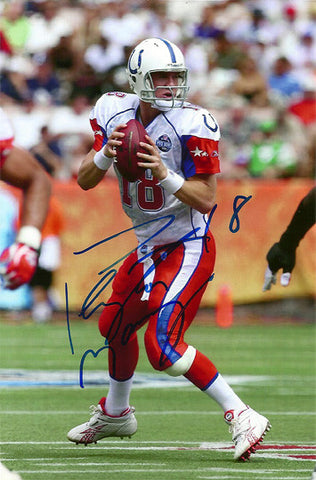 Rare Collectible Peyton Manning Indianapolis Colts Autograph Hand Signed Photo - TnTCollectibles