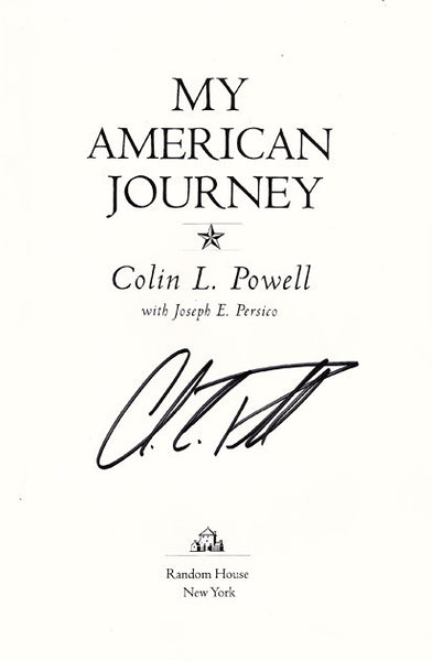General Colin Powell Autograph Hand Signed My American Journey Title Page - TnTCollectibles
