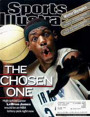 Lebron James High School Sports Illustrated February 18 2002 Issue - TnTCollectibles