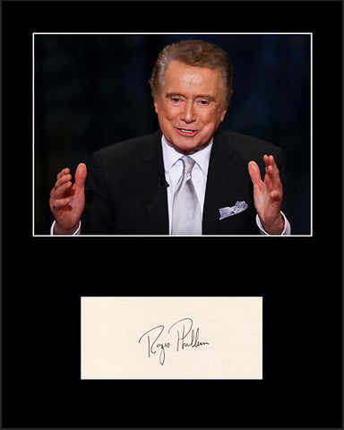 Framed Matted TV Legend Regis Philbin Hand Signed Autograph and Photo - TnTCollectibles