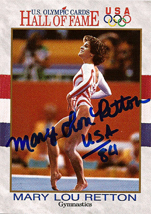 Olympic Legend Mary Lou Retton Autograph Hand Signed Olympics Card - TnTCollectibles - 1