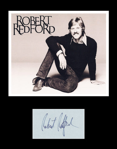 Framed Matted Hollywood Legend Robert Redford Signed Autograph and Photo - TnTCollectibles