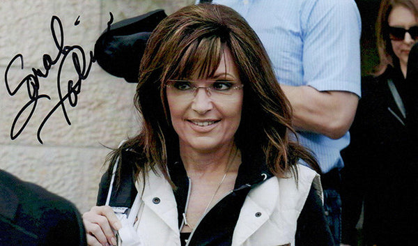 Historical Tea Party Queen Sarah Palin Autograph Hand Signed Photo - TnTCollectibles