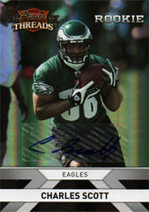 2010 Panini Threads NCAA BCS Champion Charles Scott Rookie Autograph Silver Refractor  #214 SN - TnTCollectibles