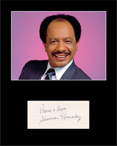 Framed Matted TV Star Sherman Hemsley The Jeffersons Hand Signed Autograph and Photo - TnTCollectibles
