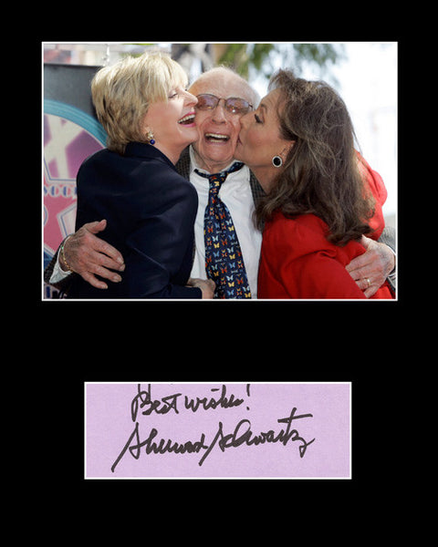 Framed Matted TV Legend Sherwood Schwartz Signed Autograph and Photo - TnTCollectibles