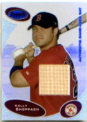 2003 Bowman's Best Kelly Shoppach Game Used Bat Card - NIP - TnTCollectibles