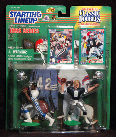 1998 Starting Lineup Troy Aikman Emmitt Smith Dual Dallas Cowboys Action Figures NIP - TnTCollectibles - 1