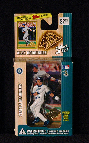 Vintage 1999 Alex Rodriguez Topps Action Flats Mariners Action Figure with Card - TnTCollectibles - 1