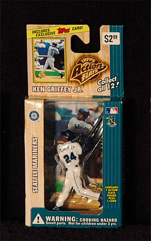 Vintage 1999 Ken Griffey Jr Topps Action Flats Mariners Action Figure with Card - TnTCollectibles - 1