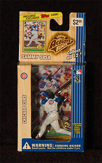 Vintage 1999 Sammy Sosa Topps Action Flats Chicago Cubs Action Figure with Card - TnTCollectibles - 1
