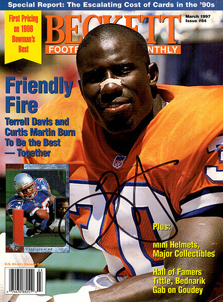Denver Broncos Terrell Davis Autograph Quickie Hand Signed Beckett Cover - TnTCollectibles