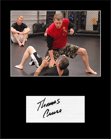 MMA Martial Arts Instructor Thomas Cruse Signed Framed Matted Autograph and Photo Seal Team 6 - TnTCollectibles