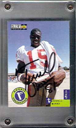 Collectible 1996 Terrell Owens Autographed Signed Upper Deck 49ers Rookie Card - TnTCollectibles