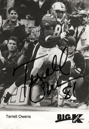 Terrell Owens Autographed Hand Signed K-Mart Promo Photo - TnTCollectibles