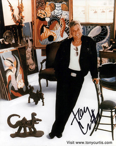 Hollywood Legend Tony Curtis Autograph Hand Signed Photo 2 - TnTCollectibles