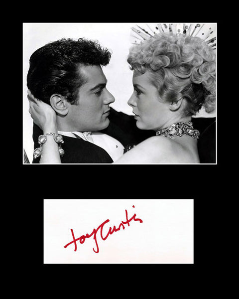 Framed Matted Film Legend Tony Curtis Hand Signed Autograph and Photo - TnTCollectibles