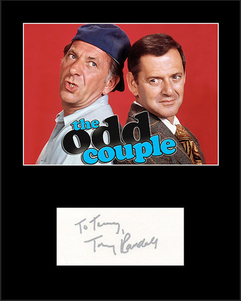 Framed Matted Star Tony Randall The Odd Couple Hand Signed Autograph and Photo - TnTCollectibles