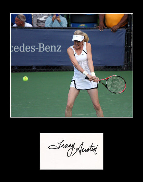 Rare Collectible Tennis Star Tracy Austin Hand Signed Autograph and Photo Framed Matted - TnTCollectibles