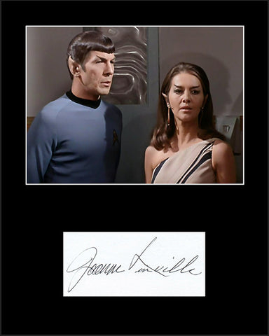 Star Trek Original Series Actress Joanne Linville Autograph and Photo Framed and Matted - TnTCollectibles