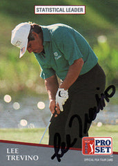 Champion PGA Golfer Lee Trevino Autograph Hand Signed Card - TnTCollectibles