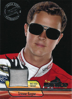 2012 NASCAR Racer Trevor Bayne Limited Edition Race Worn Fire Suit Ignite Materials Card IM-TG - TnTCollectibles - 1