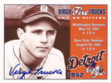 Rare Collectible World Series Champ Virgil Trucks Autographed Hand Signed Card - TnTCollectibles - 1