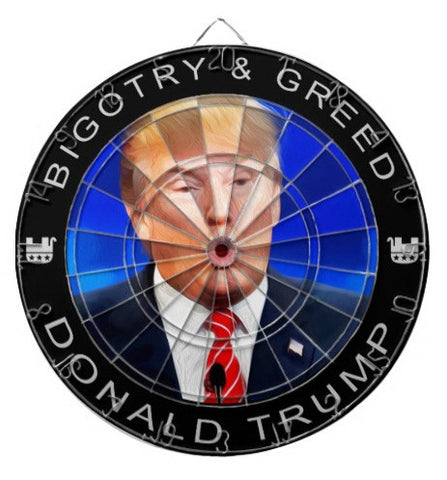 EXCLUSIVE Anti Donald Trump Dartboard with 2 Sets of Darts - Regulation Dart Board - TnTCollectibles