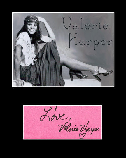 Framed Matted TV Star Valerie Harper Hand Signed Autograph and Photo - TnTCollectibles