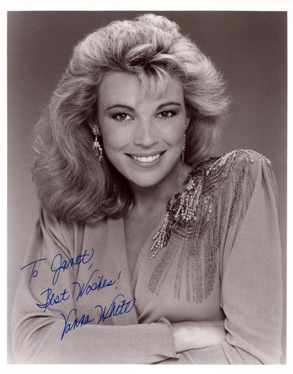 Collectible Television Star and Model Vanna White Autographed Hand Signed Photo - TnTCollectibles
