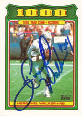 1988 Herschel Walker Autographed Hand Signed Topps 1000 Yard Club Card - TnTCollectibles