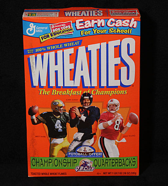 Limited Edition Football Legends Steve Young Brett Favre John Elway Sealed Wheaties Cereal - TnTCollectibles