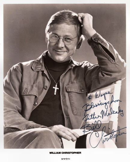 Collectible MASH M*A*S*H TV Star William Christopher Autograph Hand Signed Photo - TnTCollectibles