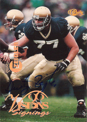 Dusty Zeigler Autographed Hand-Signed Rookie Football Card - TnTCollectibles