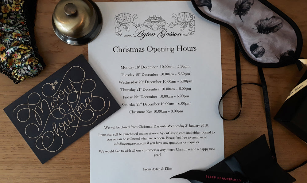 Our Christmas Opening Hours