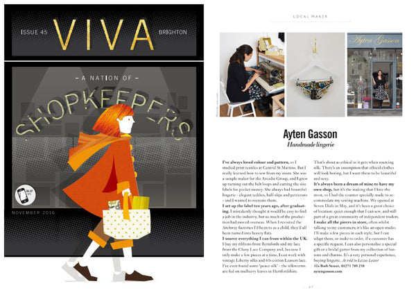 Viva Magazine Brighton Ayten Gasson Local Maker