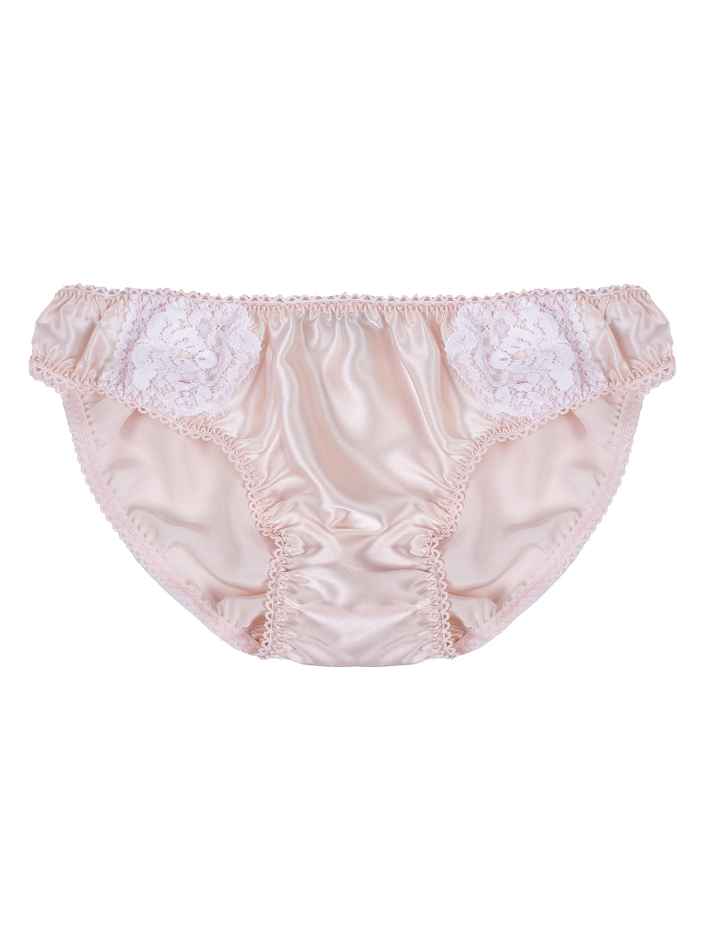 Zoe Blush Silk & Lace Knicker by Ayten Gasson
