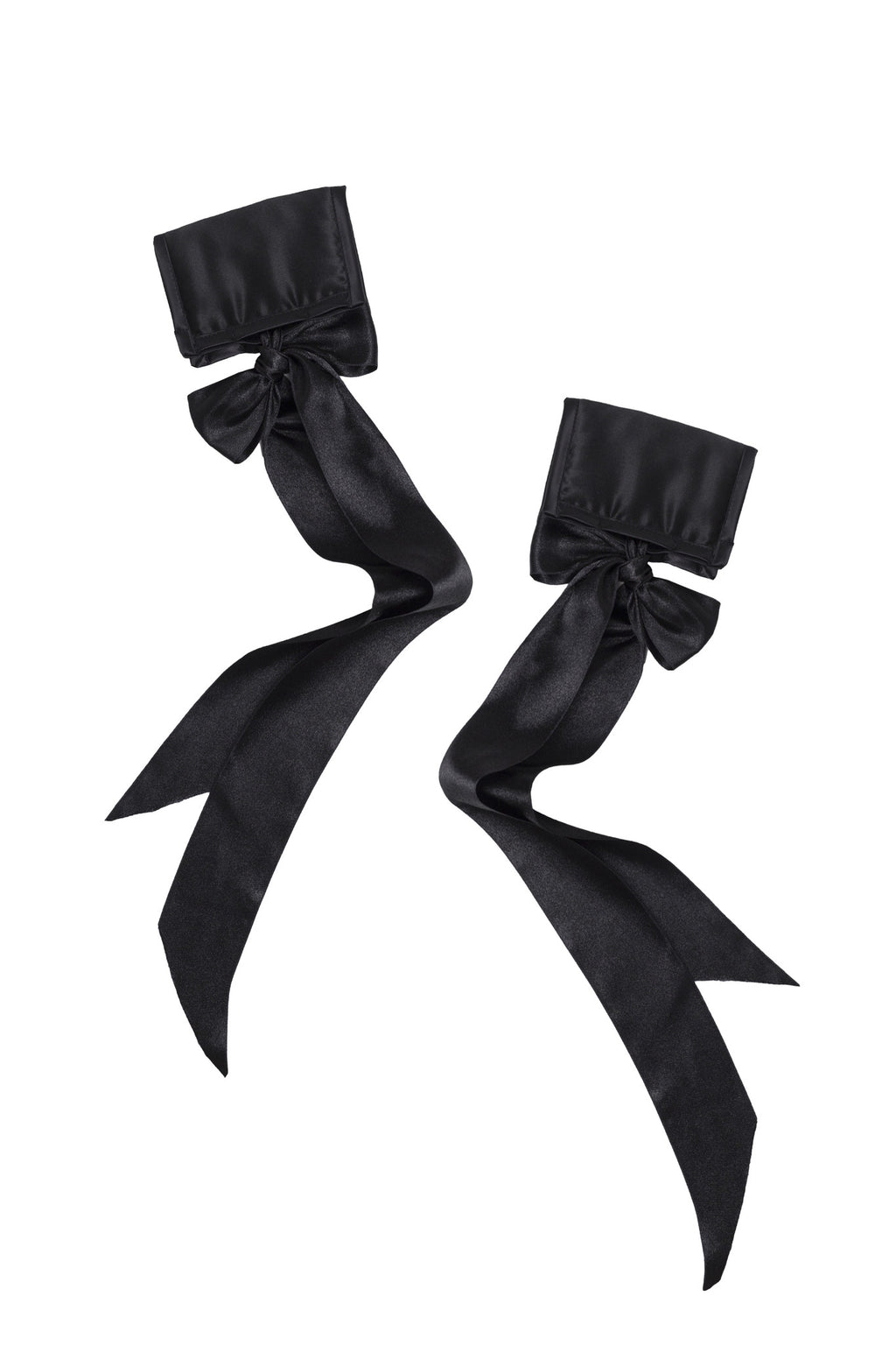 Classic Silk Black Cuffs - Handmade by Ayten Gasson